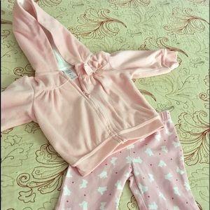 6 months girl pink set